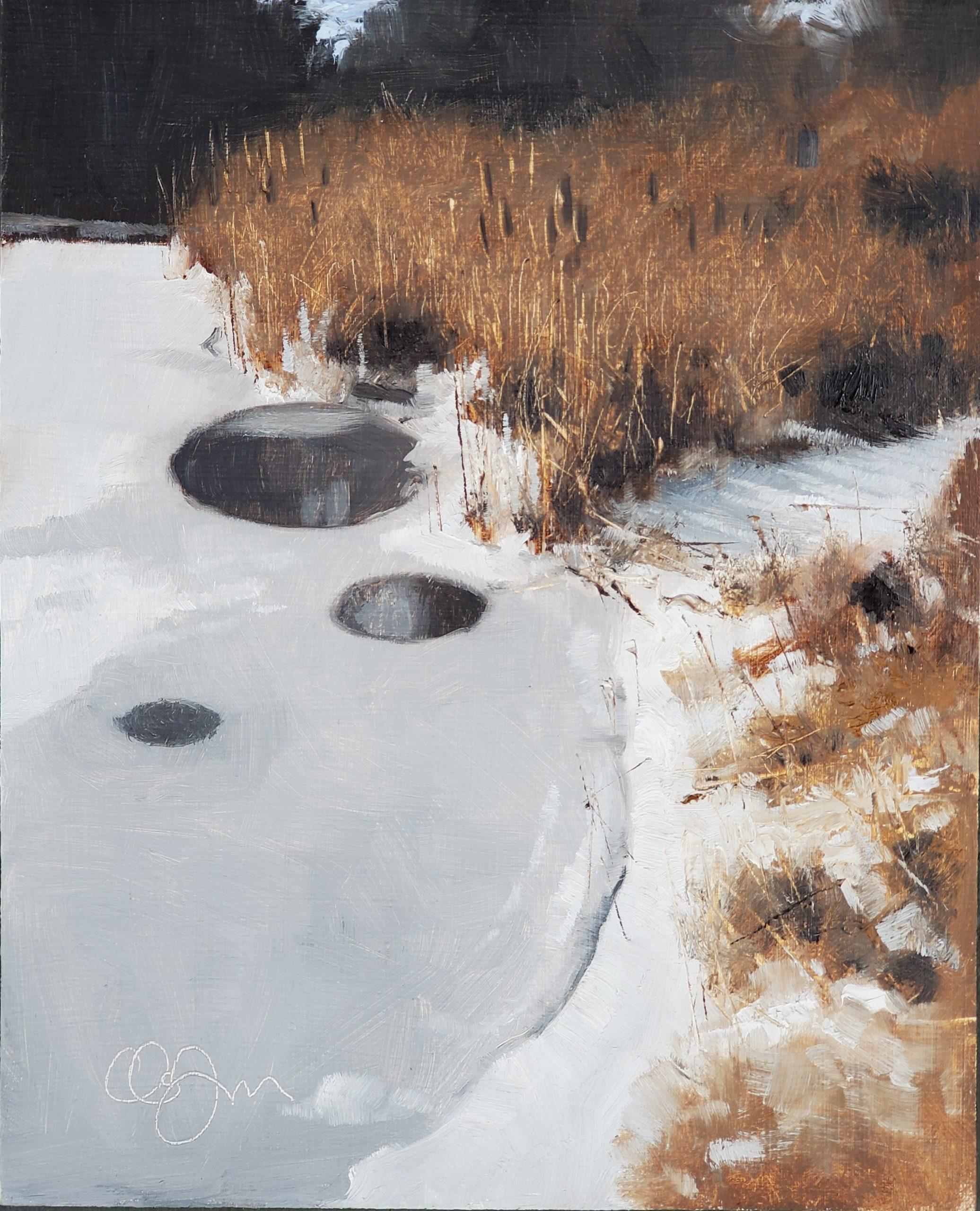 Thin Ice, 8″ x 10″, Oil on Panel
