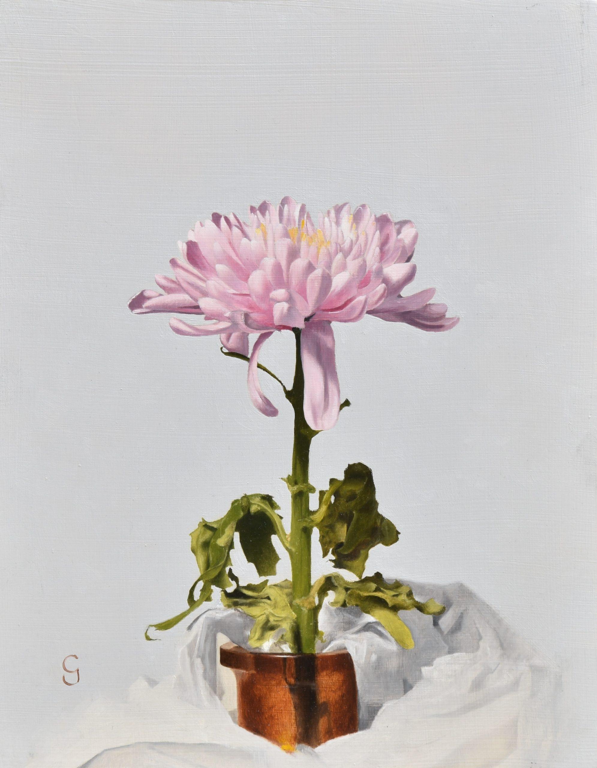 Chrysanthemum, 14″ x 11″, Oil on Panel