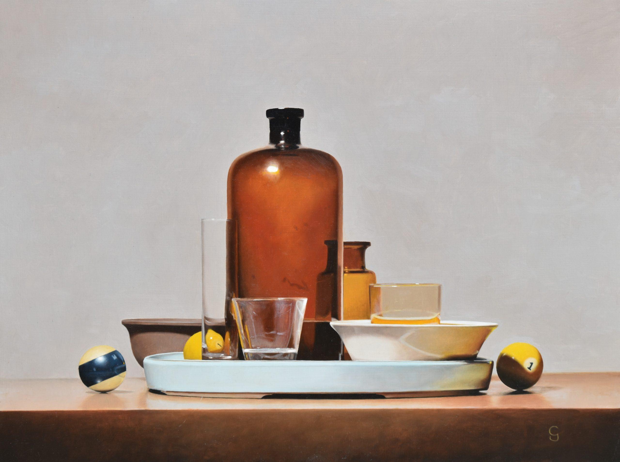 Vitrum Umbrae, 18″ x 24″, Oil on Panel
