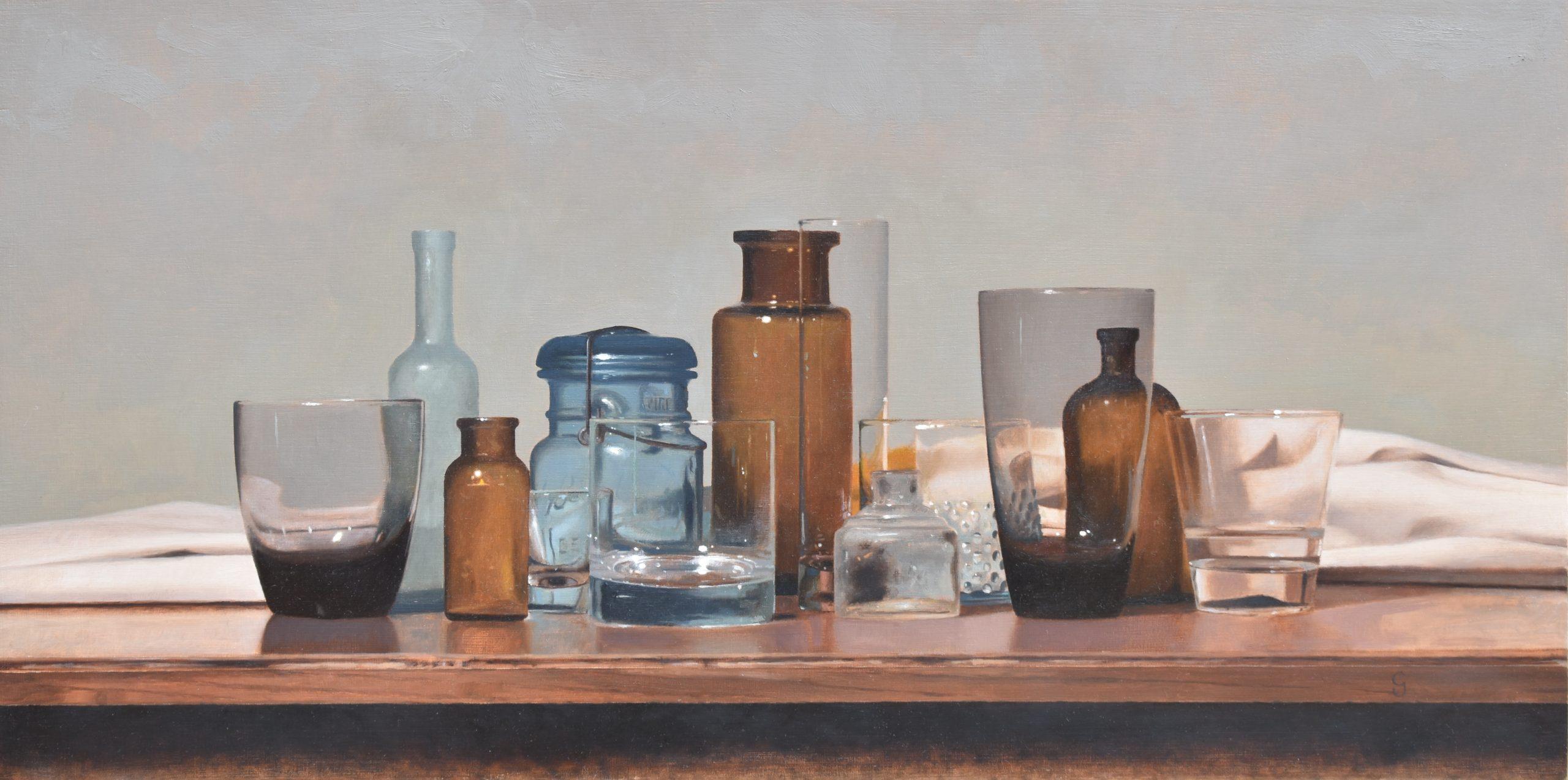 Vitrum Umbrae 02, 12″ x 24″, Oil on Panel