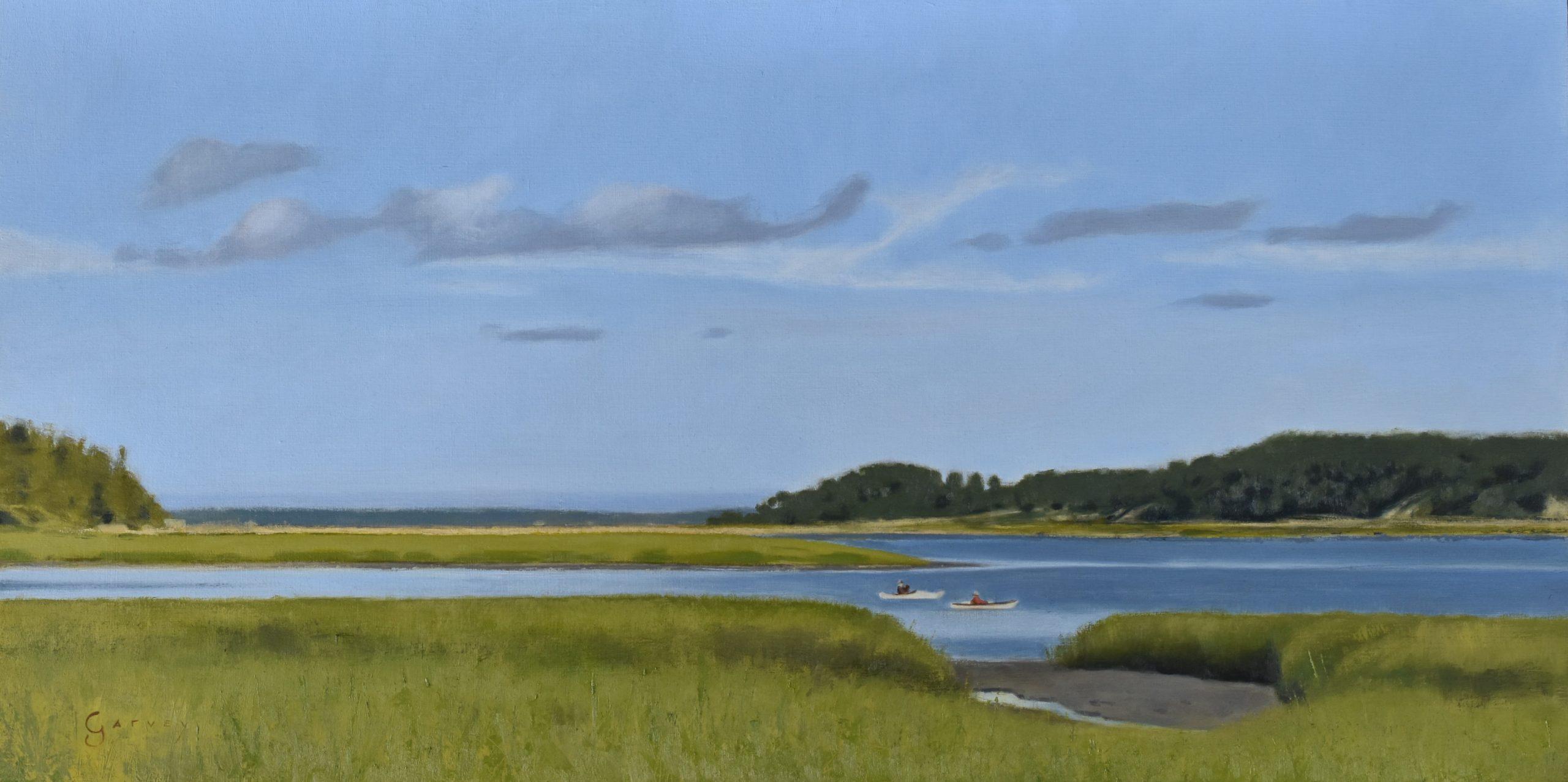 Wellfleet Afternoon, 12″ x 24″, Oil on Panel