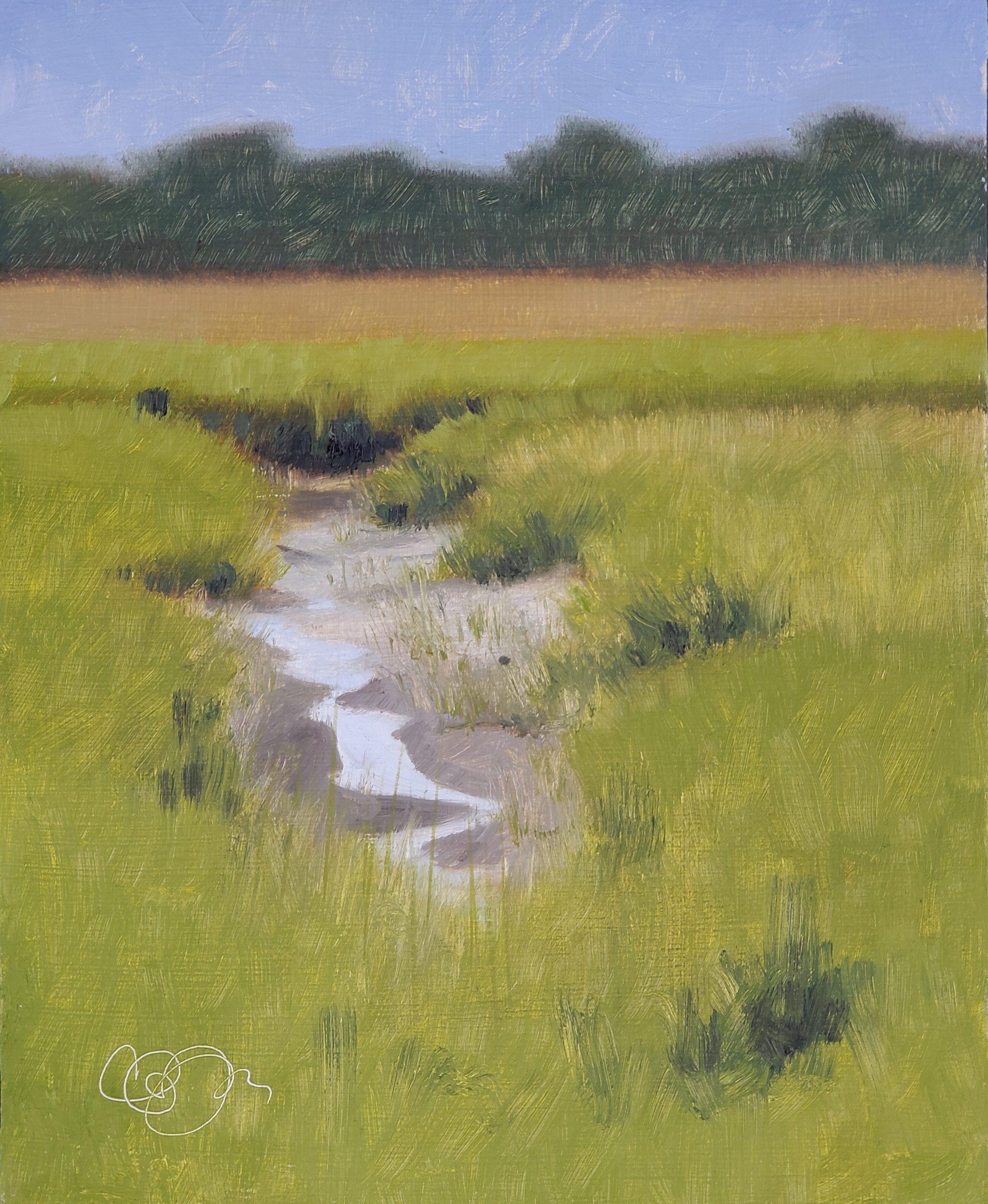 Low Tide, 8″ x 10″, Oil on Panel